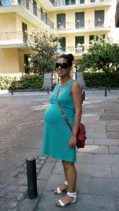Última foto embarazada