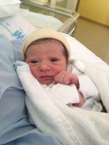 Daniela recién nacida
