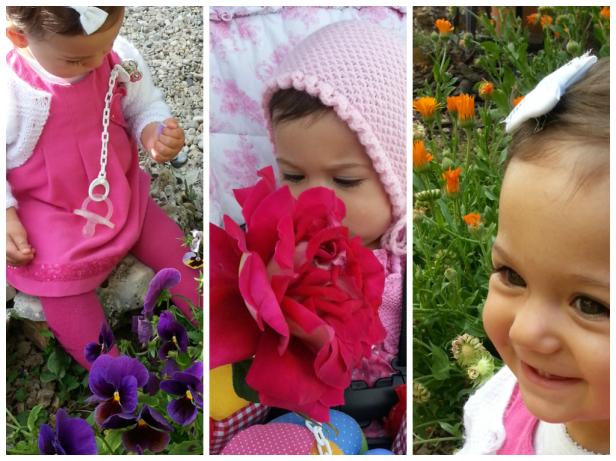 Mi princesa rodeada de flores